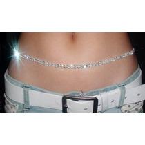 Correa/ Cinturón Con Brillantes 2 Hileras. Body Chain - Dama