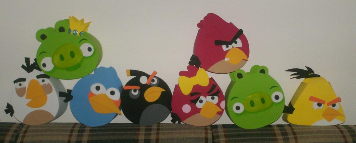 Cotillones De Angry Birds En Foami - BsF 90,00 en MercadoLibre