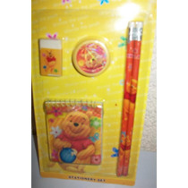 Set Escolar Variados Winnie De Pooh Cotillon