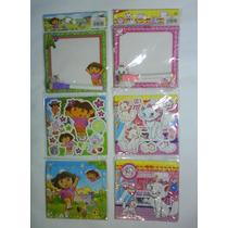 Pizarra, Rompecabeza, Stickers, La Sirenita, Dora, Cotillón