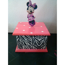Cotillones Mdf Cajas Minnie Mouse Animal Print 17x25cm