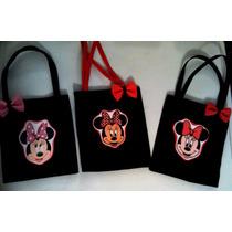 Lindos Cotilones En Tela Pop De Minnie Y Mickey