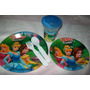 Plato Vaso Backyardigan Princesa Dora Chavo Mickey Minnie