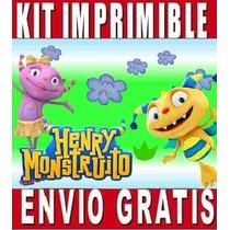 Henrry Monstruito Kit Imprimible Invitaciones + Regalo