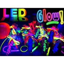 Combo Hora Loca Led Neon Glow Bodas 15 Años Graduacion Fiest