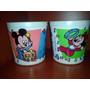 Tobos Plasticos De Minnie Y Mickey Bebes Para Cotillon