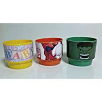 Cotillones Infantiles Tasitas Plasticas Personalizadas.. !!