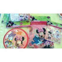 Mantelería Fiesta Minnie Mousse.licencia Disney Junior