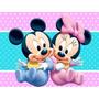 Mini Bebe Y Mickey Bebe, Figura De Carton Mini Y Mickey