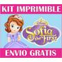 2x1 Princesa Sofia Kit Imprimible Invitaciones + Regalo