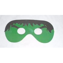 6 Antifaz De Hulk (niños-adultos) Fiesta Hora Loca