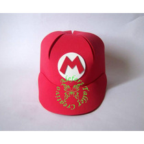 06 Gorras De Mario Bross En Foami - Cotillones, Fiestas, Etc