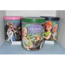 Potes Con Tapa Frozen Violetta, Monster U, Y + Para Cotillón