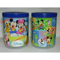Potes Con Tapa Mickey - Minnie Bebes, Para Cotillones.
