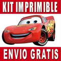 Cars 2 Kit Imprimible Invitaciones + Regalo