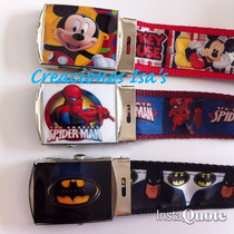Correas Spiderman Cars Mickey Batman Jake Pirata Mario Bros