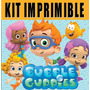 Bubble Guppies Kit Imprimible Invitaciones + Regalo