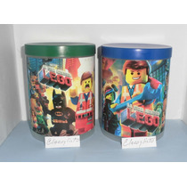 Potes Con Tapa Lego, Bajoterra, Spiderman, Y + Para Cotillón