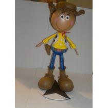 Muñeca Fofucha 3d Woody De Toys Story En Foami Centro Mesa