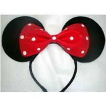Lindos Cintillos Mickey Mouse Y Minnie & Corbatas& Pulsera