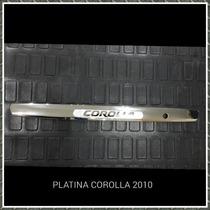 Platina Cromada Corolla 2009