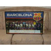 Cuadro Enmarcado Grande De Colección Del Barcelona, 1