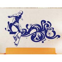 Vinilo Decorativo Skateboarding Pequeño -paredes-autodhesi