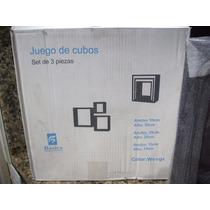 Juego De 3 Repisa Cubo (wengue)