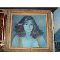 Busto De Mujer Del Pintor Angarita Marron