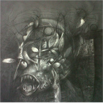 Grafito Sobre Tela Del Artista Jesus Ovalles-obras De Arte