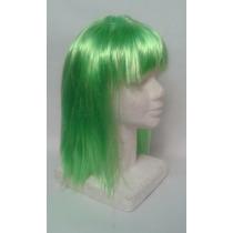Peluca Verde Para Disfraces Cosplay