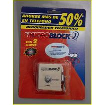 Bloqueador Y Protector Telefónico Con 2 Llaves Microblock