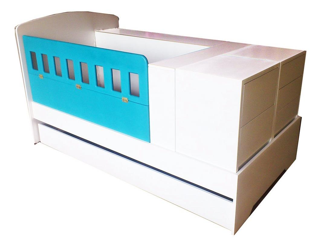 Cuna convertible a cama individual full equipo 8 piezas for Cama individual precio