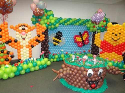 Curso con globos imagui for Como hacer decoracion con globos