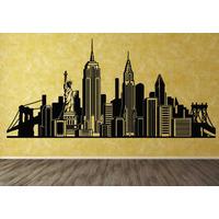 Vinilos Decorativos Skyline De New York -rotulados-paredes-