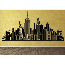 Vinilos Decorativos Skyline De New York -rotulados-paredes-