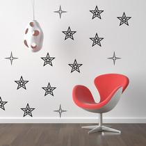 Stickers Vinilos Decorativos Flores-estrellas Paredes Full
