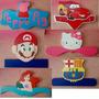 Perchero En Mdf. Figuras Infantiles. Cars, Mario, Princesas.
