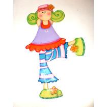 Apliques- Figuras De Muñecas Go-go En Madera Mdf