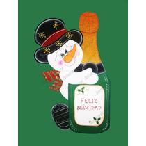 Navidad Foami Muñeco De Nieve Con Botellla- Snowman-