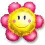 Globos Metalizados De Flores, Mariposas, Abejitas 14 Pulgada