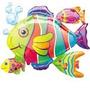 Globos Metalizados De Animales Del Mar Vac12