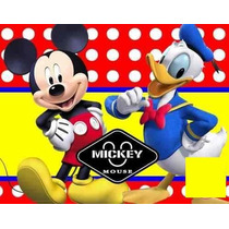 Kit Imprimible Mickey Mouse Y Donald Cumpleaños Fiesta Torta
