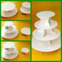 Base Plastico Blanco Para Tortas Cupcakes Ponquecitos