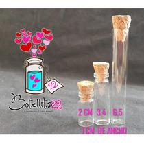 Botellitas De Vidrio Con Corcho Para Dije De 2, 3 Y 6,5 Cm