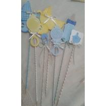 Figuras Decorativas En Foamy Para Recuerdo Babyshower.