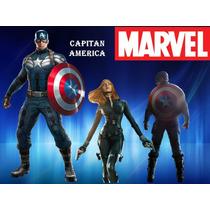 Kit Imprimible Capitan America Oferta 2x1 Tarjeta