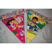 Banderilla De Cumpleaños Diego Dora Mickey Minnie Cotillon