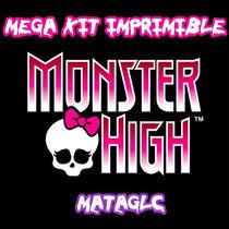 Mega Kit 6x1 Tarjetas Monster High Golosinas Fiesta Cajas