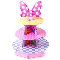 Minnie Mouse Base Para Ponquesitos Cup Cake Decoracion